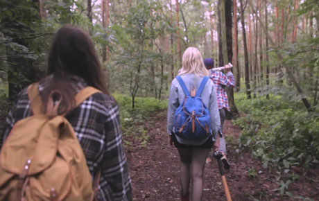 Backpacks in Mint Julep's new video Aviary